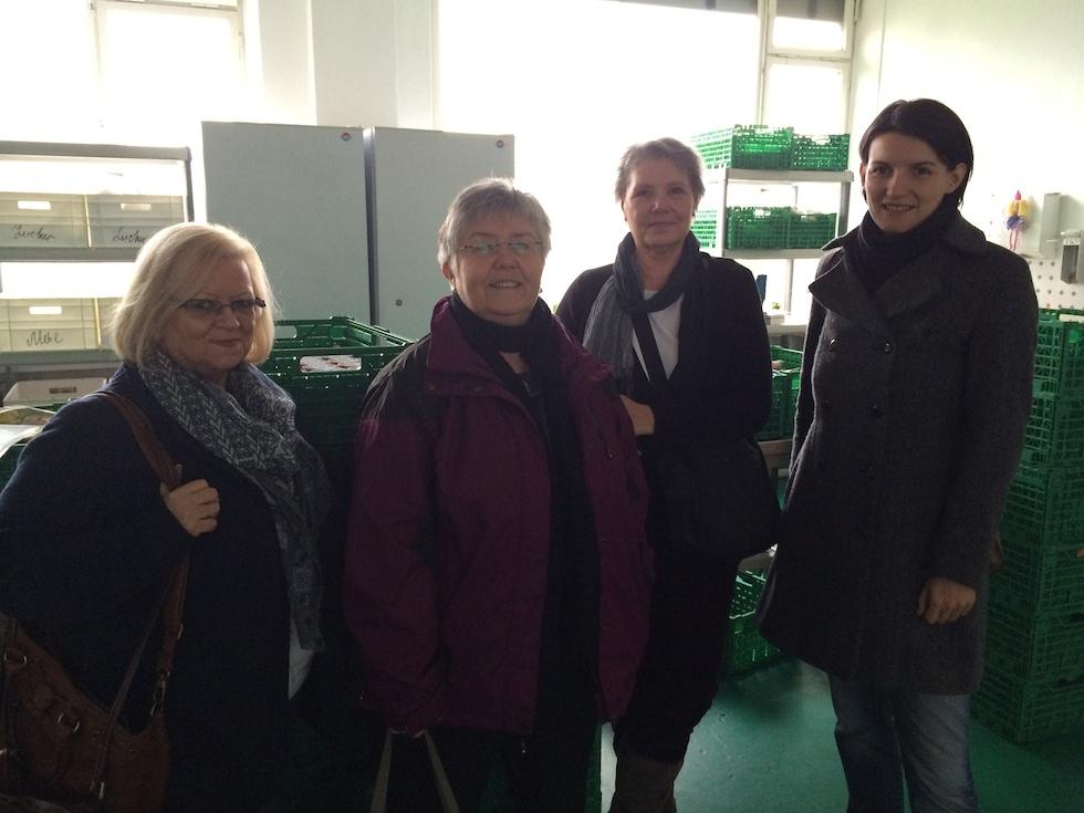 Mit Mitarbeiterinnen der Gelsenkirchener Tafel