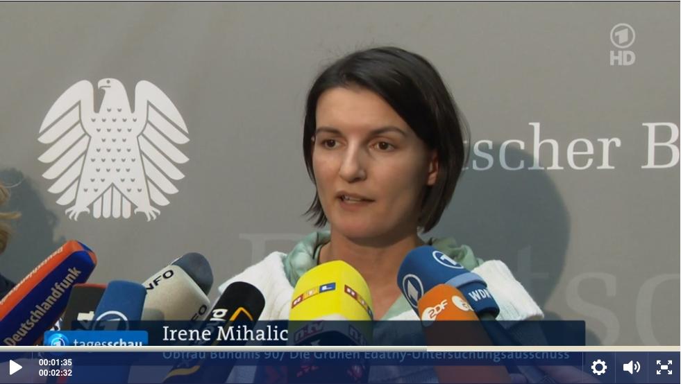 Irene Mihalic in der Tagesschau (Link zum Video)