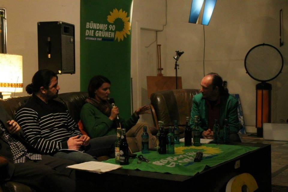 Irenen Mihalic bei der Diskussion