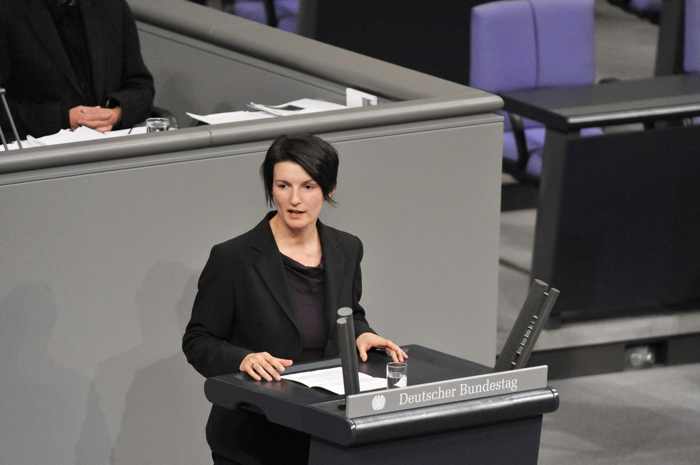 Irene Mihalic im Plenum des Bundestages