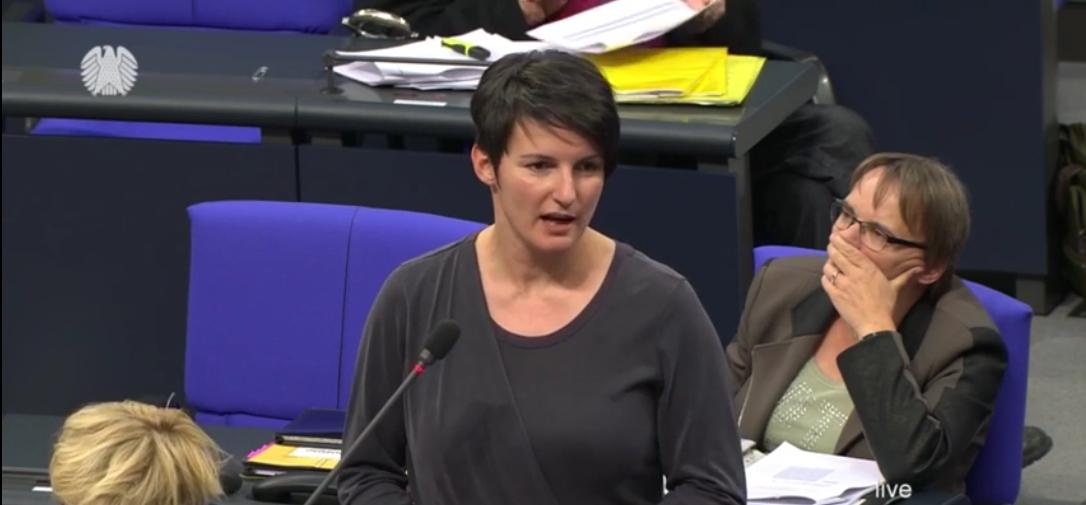 Screenshot aus der Fragestunde mit Irene Mihalic