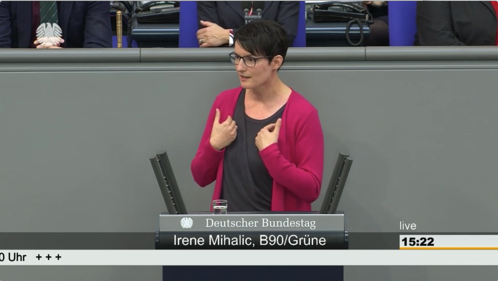 Screenshot der Rede
