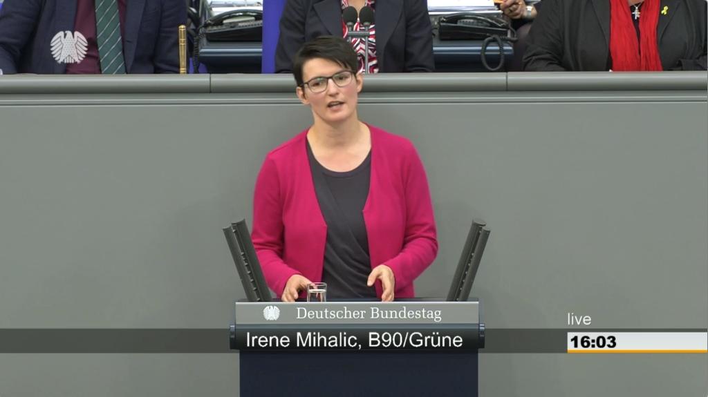 Screenshot der Rede