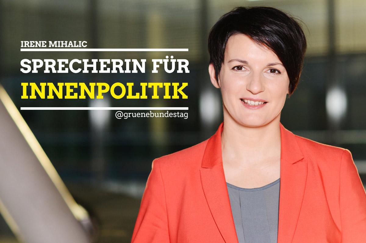 Irene Mihalic, Sprecherin für Innenpolitik