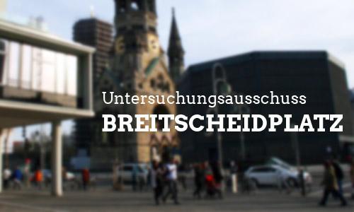 Untersuchungsausschuss zum Breitscheidplatz