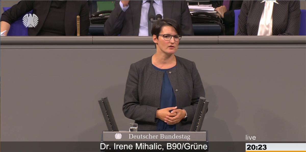 Irene Mihalic. Rede zum Bundesbesoldungs- und Versorgungsanpassungsgesetz