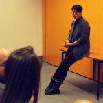 Dr. Irene Mihalic im Gespräch bei BPA-Fahrt