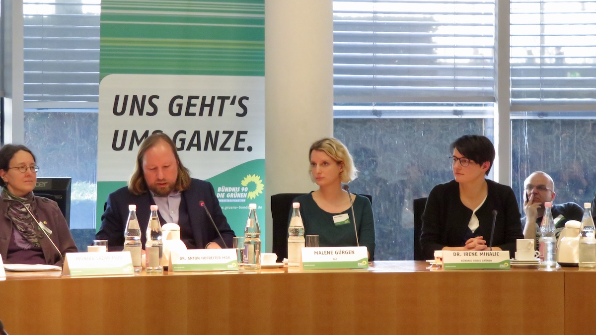 Reichsbürger-Veranstaltung der Bundestagsfraktion BÜNDNIS 90/DIE GRÜNEN