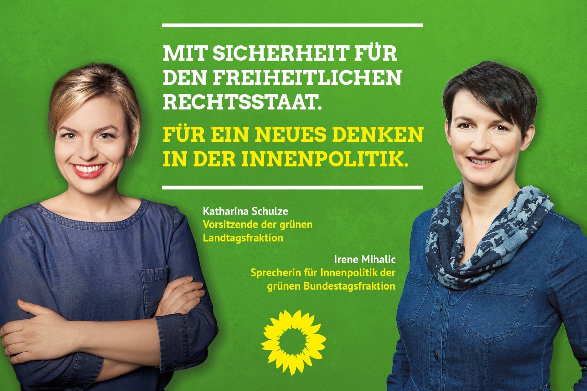 Irene Mihalic und Katharina Schulze