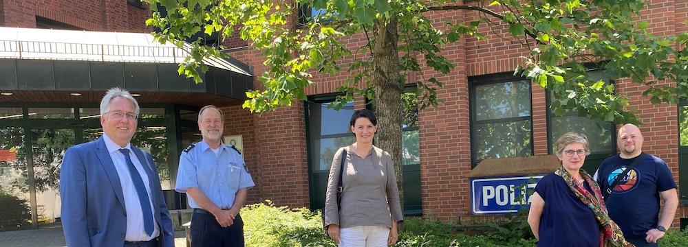 Besuch bei der Polizei in Herford
